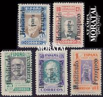 1937 España  Ed F-NE 9/13 Pedagogos (Altea) Beneficencia **MNH Perfecto Estado, Nuevo Sin Charnela  (Edifil) - Wohlfahrtsmarken