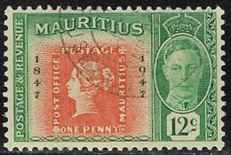 Mauritius SG267 1948 Stamp Centenary 12c Good/fine Used [40/32925/1D] - Mauritius (...-1967)