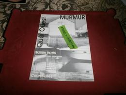 Courseulles Saison 94/95 Quaiouest Murmur - Publicités