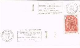 Nouvelle Caledonie New Caledonia Flamme 20 Ans Cheques Postaux Noumea CCP 1979 Us Courant - Lettres & Documents