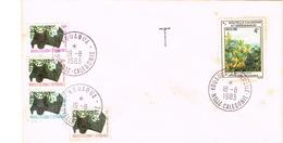 Nouvelle Caledonie New Caledonia Timbre Taxe Lettre Taxee Kouaoua Annexe Mobile Roussette 1983 Us Courant Piquee - Neukaledonien