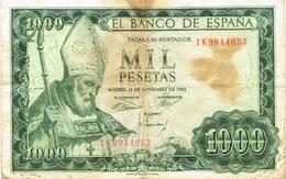 Espagne Espana Banco Billet De Banque Banknote Monnaie Money 1000 Mil Pesetas Us Courant - [ 3] 1936-1975: Regime Van Franco