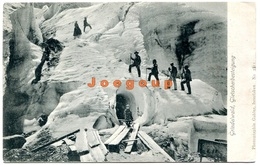 Postkarte Gabler Grindelwald Schweiz Gletscherberteigung Mountaineering Alpinism Cachet Colligis France - Alpinismo