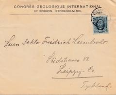 Bergbau: Congres Geologique Internat. Stockholm 1910, Leipzig Mit Briefinhalt - Europe (Other)