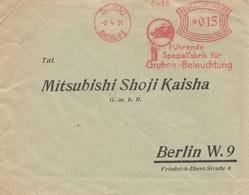 Bergbau: 1931, Spezialfabrik Gruben-Beleuchtung, Zwickau - Berlin An Mitsubishi - Deutschland