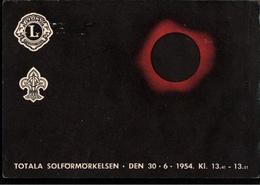 ! Anichtskarte Sonnenfinsternis, Totala Solförmörkelsen, 30.6.1954, Lions Club, Schweden, Jonköping, Sweden - Suède