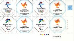 China 2019 Z-52 Emble Of BeiJing 2022 Olympic Winter Game And  Paralympic Winter Game And Volunteer Stamps Block B - Winter 2022: Peking