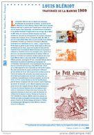 """"""" LOUIS BLERIOT """" Sur Document Philatélique Officiel De 2009. N° YT PA 72 - Flugzeuge"""