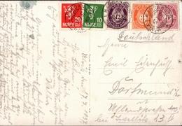 ! Anichtskarte Ulvik I Hardanger, Norwegen, Norge, Norway, 1937, Fünffarbenfrankatur - Briefe U. Dokumente
