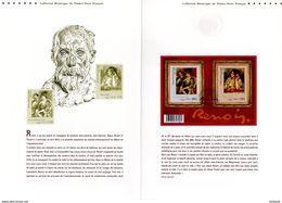 """FRANCE 2009 """" OEUVRES DE RENOIR """" Sur Document Philatélique Officiel (4 Pages) N° YT F4406. DPO - Impressionisme"""