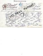 61 - Orne - LE PIN-AU-HARAS - Facture EUGENE - Hôtel Du Tourne-bride - 1916 - REF 129B - France
