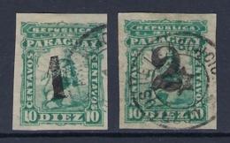 PARAGUAY 1881 LION IMPERFORATE SET Nº 12/13 - Paraguay