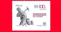 Nuovo - MNH - ITALIA - 2019 - 100 Anni Dell'Organizzazione Internazionale Del Lavoro – OIL - Minatore - B - 6. 1946-.. Repubblica
