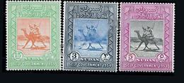 Timbres De La Série Des Chameaux Du Soudan Britannique 1954 - Sudan (...-1951)