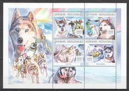 C182 !!! LAST ONE IN STOCK !!! 2001 CENTRAFRICAINE PETS DOGS D'ALASKA HUSKY SIBERIAN 1KB MNH - Hunde
