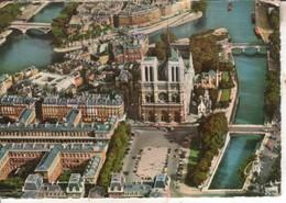 75PAR08 CPSMGF 75 - EN AVION SUR PARIS ILE DE LA CITE  (PILOTE OPERATEUR R. HENRARD) - Frankreich