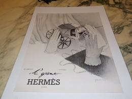ANCIENNE PUBLICITE LE GANT  HERMES  1941 - Bijoux & Horlogerie