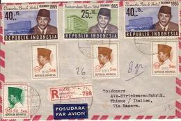 (St.Post.).Indonesia.Affrancatura Mista Su Raccomandata Aerea Per L'Italia (54-19) - Indonesien