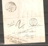 Lot  1835  //     LETTRE  A/C --CAD NYON + GRAND CACHET COPPET - France