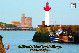 Set 6 Cartes Postales, Phares, Lighthouses Of Europe, France, Saint-Vaast-la-Hougue, Le Phare De Saint-Vaast-la-Hougue - Vuurtorens