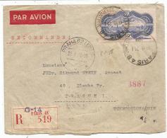 PA N° 15 SEUL LETTRE REC AVION PARIS 1938 POUR PRAGUE - Postmark Collection (Covers)