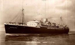 Real Photo Elder Demoster Lines Apapa Ocean Liner Postcard - Paquebote