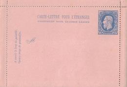 BELGIQUE - CARTE LETTRE NEUVE POUR L'ETRANGER - 25c BLEU. - Cartas-Letras