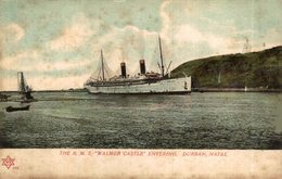 THE RMS WALMER CASTLE ENTERING DURBAN NATAL - Paquebots