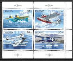 Islande 1993 Bloc De 4 Neuf 741/744 Avions Postaux - Ungebraucht