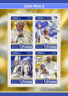GUINEA REP. 2017 ** Mother Teresa Mutter Teresa Pope John Paul II. M/S - OFFICIAL ISSUE - DH1726 - Mutter Teresa
