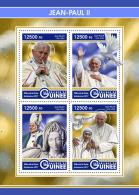 GUINEA REP. 2017 ** Mother Teresa Mutter Teresa Pope John Paul II. M/S - IMPERFORATED - DH1726 - Mère Teresa