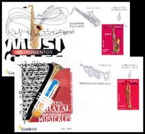 2010 Espagne  Yv 4194, 4202 Musicales Trompette, Saxophone Musique Cachet (Premier Jour) TB Beau (FDC)  (Yvert&Tellier) - FDC