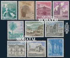 1966 Espagne  Yv 1380/1384, 1413/1417 Touristique III Tourisme **SC TTB Très Beau, Neuf Sans Charnière  (Yvert&Tellier) - 1931-Heute: 2. Rep. - ... Juan Carlos I