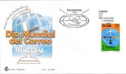 2001 Espagne  Yv 3389 Journée Mondiale Du Courrier  Cachet (Premier Jour) TB Beau (FDC)  (Yvert&Tellier) - FDC