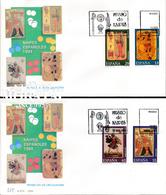 1994 Espagne  Yv 2908/2911 Cartes à Jouer Jouer Aux Cartes Cachet (Premier Jour) TB Beau (FDC)  (Yvert&Tellier) - FDC