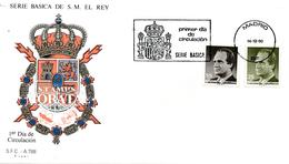 1990 Espagne  Yv 2708/2709 Juan Carlos I Rois Cachet (Premier Jour) TB Beau (FDC)  (Yvert&Tellier) - FDC