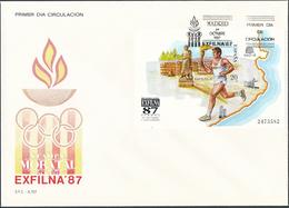 1987 Espagne  Yv BF-37 BF Exfilna 87 Exposition Cachet (Premier Jour) TB Beau (FDC)  (Yvert&Tellier) - FDC