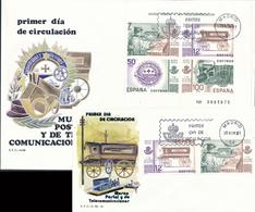 1981 Espagne  Yv BF-30 BF Musée De La Poste Timbres Cachet (Premier Jour) TB Beau (FDC)  (Yvert&Tellier) - FDC