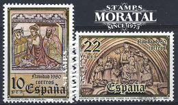 1980 Spain  Sc 2223/2224 Christmas Christmas **MNH Very Nice, Mint Hever Hinged  (Scott) - 1931-Today: 2nd Rep - ... Juan Carlos I