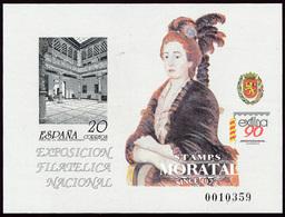 1990 Spain  Sc 0 PO Exfilna'90  **MNH Very Nice, Mint Hever Hinged  (Scott) - Hojas Conmemorativas