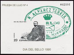 1990 Spain  Sc 0 PO Stamps Day  **MNH Very Nice, Mint Hever Hinged  (Scott) - Hojas Conmemorativas