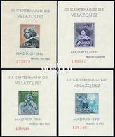 1961 Spain  Sc 983a/986 Sheets Velazquez Painting **MNH Very Nice, Mint Hever Hinged  (Scott) - 1961-70 Neufs