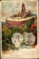 Artiste Lithographie Kyffhäuserland Thüringen, Kaiser Wilhelm Denkmal, Barbarossa - Deutschland