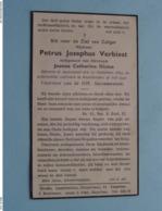 DP Petrus VERBIEST ( Joanna DICTUS ) AUSTRUWEEL 10 Sept 1883 - Kapellen 18 Juli 1940 ( Zie Foto's ) ! - Décès