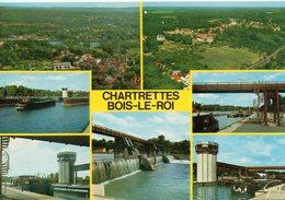 Péniches Batellerie Chartrettes Bois-le-Roi Le Barrage L'écluse La Seine - Péniches