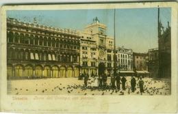 VENEZIA - TORRE DELL'OROLOGIO CON PICCIONI - EDIZ. PURGER & CO.  - 1900s (3763) - Venezia (Venice)