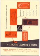 Vloeipapier Buvard - Pub Reclame NV Anciens Laminoirs à Plomb - Brugge - Ledeberg - Buvards, Protège-cahiers Illustrés