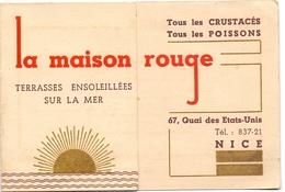 Pub Reclame - La Maison Rouge - Restaurant - E. Allard à Nice - Pubblicitari