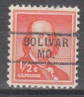 USA Precancel Vorausentwertung Preo, Locals Missouri, Bolivar 729 - Vereinigte Staaten