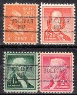 USA Precancel Vorausentwertung Preo, Locals Missouri, Bolivar 729, 4 Diff. - Vereinigte Staaten